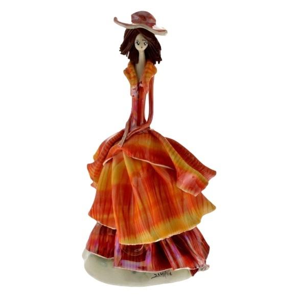 Статуэтка Дама в оранжевом платье