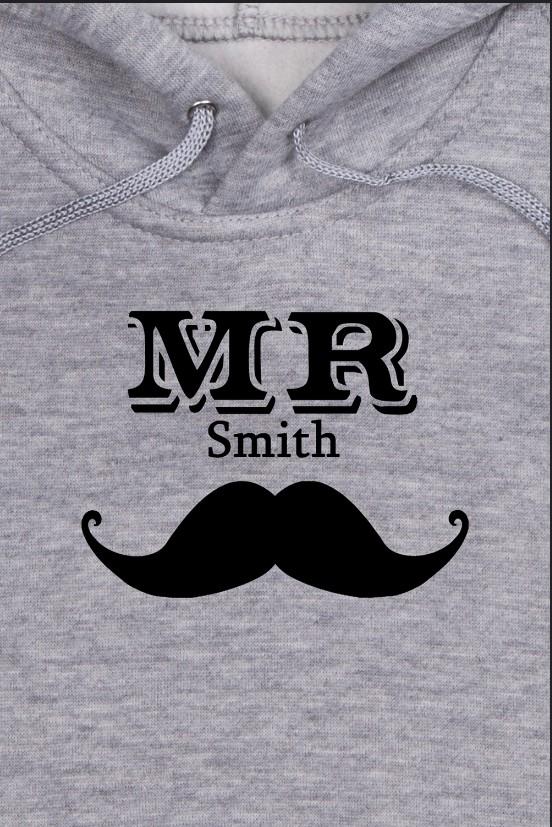Детская именная толстовка Mr & Mrs Smith