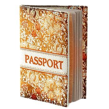 Обложка для паспорта, желто-оранжевая
