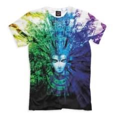 Сине-зеленая мужская футболка Эзотерика