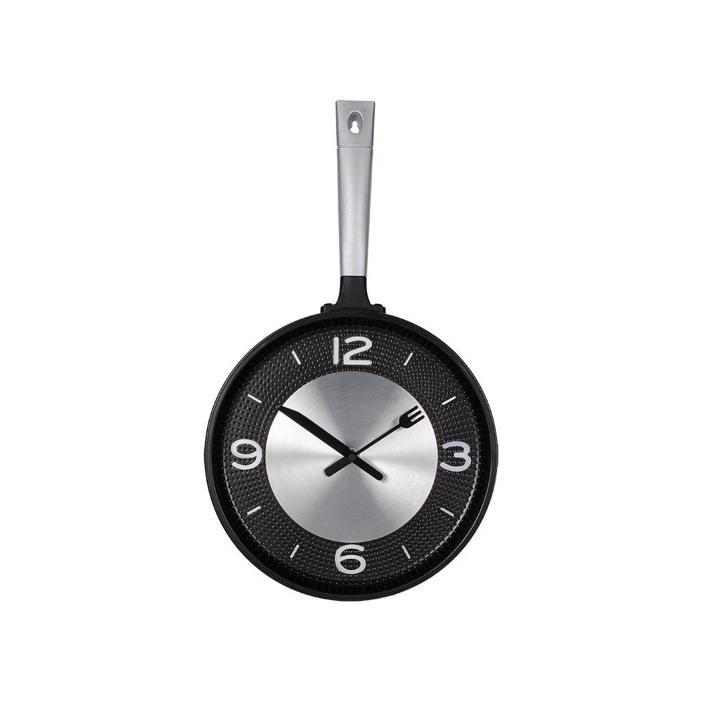Необычные настенные часы для кухни Сковородка