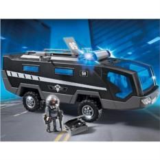 Конструктор Плеймобил Машина спецназа со светом и звуком