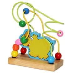 Деревянная игрушка-лабиринт Носорог