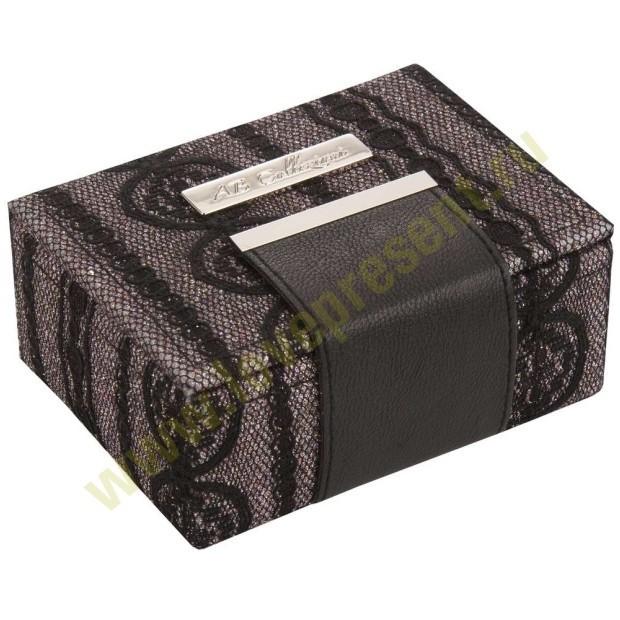Шкатулка для драгоценностей Fashion, черная (Abox)