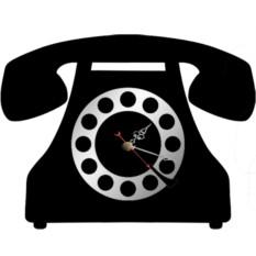 Настенные часы Телефон