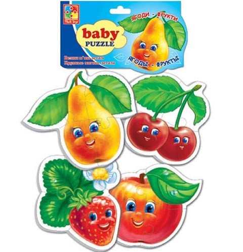 Мягкие пазлы Baby puzzle Фрукты