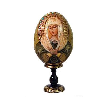 Яйцо на подставке «Богоматерь Умиление»