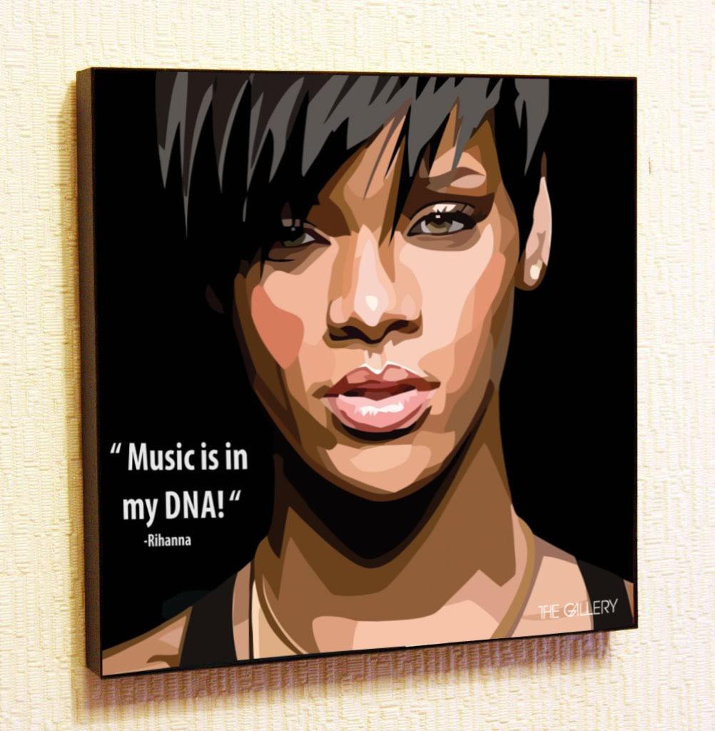 Картина в стиле поп-арт Рианна