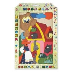 Деревянная мозаика ручной работы «Теремок»