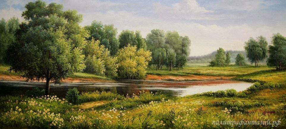Картина Тихое озеро