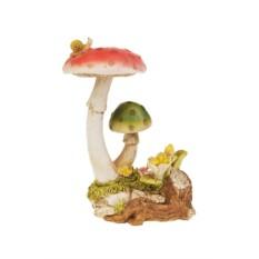 Садовая фигурка Яркие грибы-мухоморы