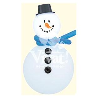 Снеговик из воздушных шаров