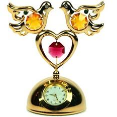 Декоративная фигурка с часами «Голубки»