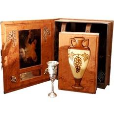 Книга Вино А. Доминэ (в коробе с серебрянным бокалом)