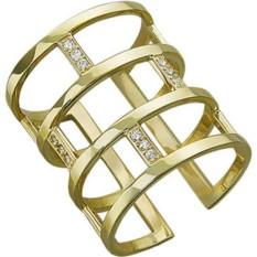 Оригинальное золотое кольцо в современном стиле Эстет