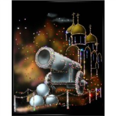 Картина с кристаллами Swarovski Царь-Пушка