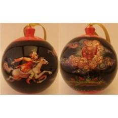Деревяный елочный шар-шкатулка Конек-горбунок