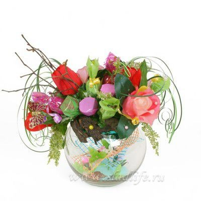 Букет из цветов Аленький цветочек