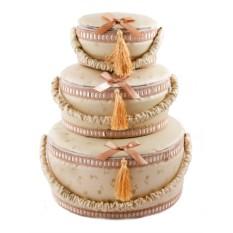 Набор шкатулок для рукоделия с кисточками