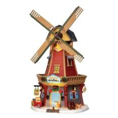 Ветряная мельница с подсветкой