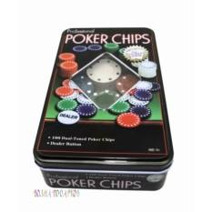 Набор из 100 фишек для покера без номинала