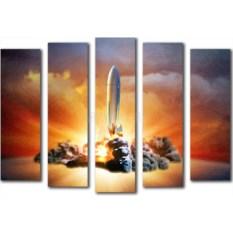 Модульная картина «Взлет» 80×55 см
