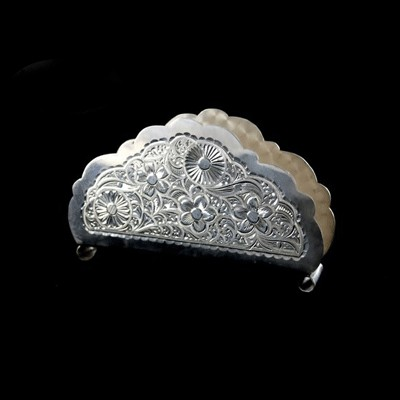 Салфетница серебряная
