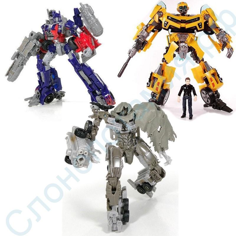 Набор игрушек роботов-трансформеров Бамблби, Оптимус, Мегатрон