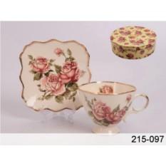 Чайный набор Корейская роза на 6 персон, 250 мл