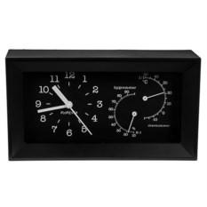 Черные настольные часы Хай-тек
