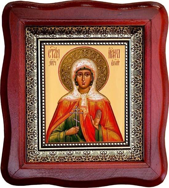 Икона на холсте Ирина Египетская Святая мученица