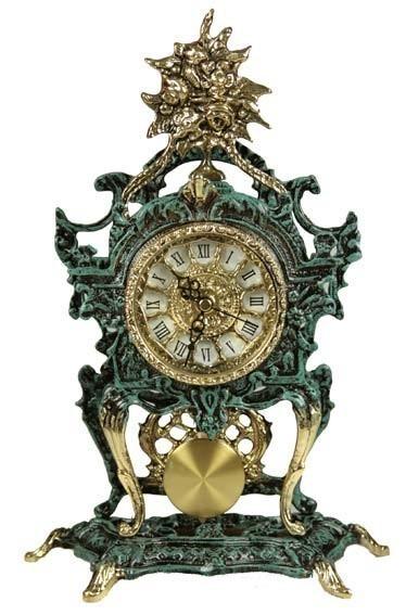 Часы каминные Малахитовая сказка