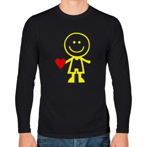 Мужская парная футболка с длинным рукавом Люблю ее