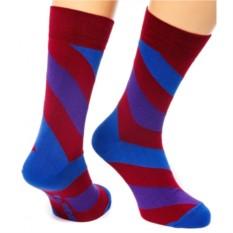 Бордовые носки Friday Spiral