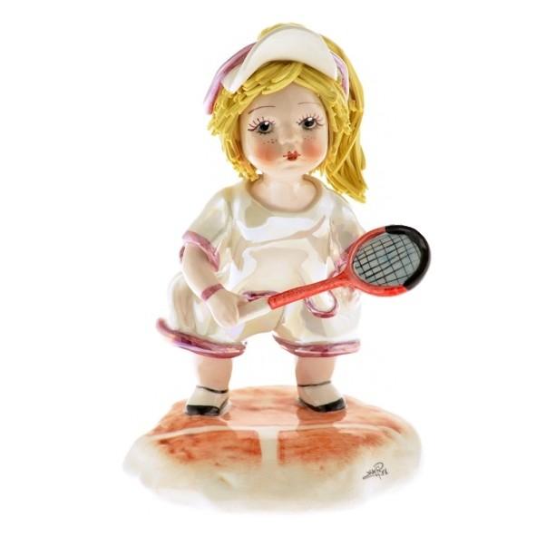 Фарфоровая статуэтка Теннисистка ZamPiva