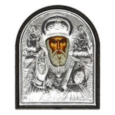 Серебряная икона Николай Чудотворец