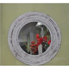 Круглое зеркало в деревянной раме Прованс
