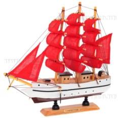 Корабль Confection с алыми парусами, длина 23,5см