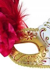 Карнавальная маска для взрослых Роскошь, красно-золотая