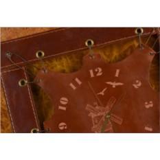 Часы из кожи Ветряная мельница (коричневый)