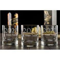 Набор бокалов для виски С Новым Годом