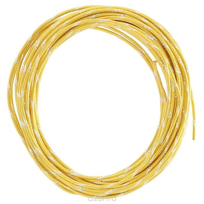 Проволока для рукоделия Астра, цвет: золотистый (014), 2 мм х 10 м.