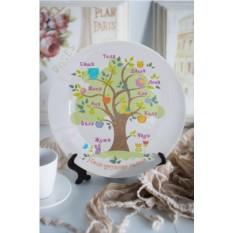 Декоративная тарелка с вашим текстом Семейное дерево