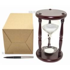 Песочные часы на 20 минут с белым песком (19 см)