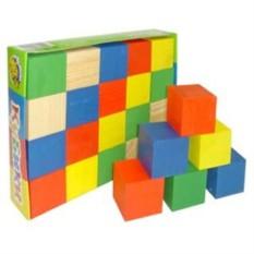 Деревянная игрушка Кубики цветные (20 деталей)