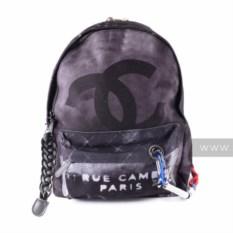 Черный рюкзак из льна Chanel