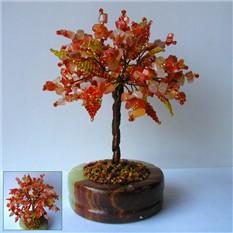 Дерево счастья из сардоникса в чаше из оникса