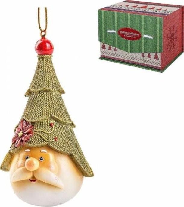 Новогодняя статуэтка Дед Мороз с елкой