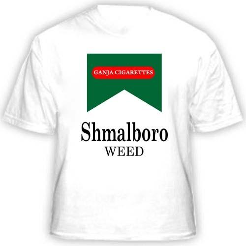 Прикольная футболка Shmalboro weed
