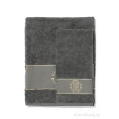Набор из двух темно-серых полотенец Roberto Cavalli Araldico